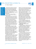 Hekim, Alternatif Tedavi ve Modern Tıp