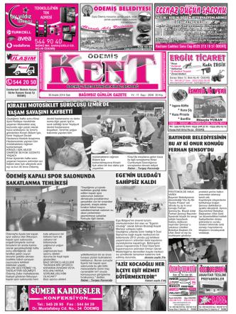 30-12-2014 Tarihli Kent Gazetesi