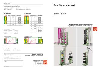 Bant Sarım Makinesi BWW / BWF