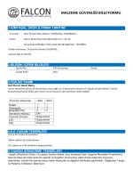 malzeme güvenliği bilgi formu - Susuz Pisuvar