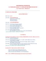 çalıştay programı - Gaziosmanpaşa Ünivesitesi Et ürünleri Çalıştayı