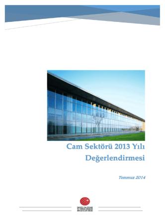 Cam Sektörü 2013 Yılı Değerlendirmesi