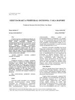 sert damakta perđferal osteoma: vaka raporu