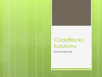 CodeBlocks Kurulumu