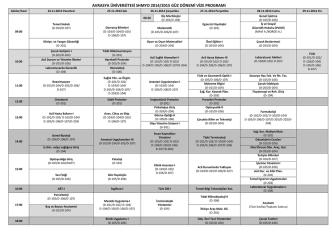avrasya üniversitesi shmyo 2014/2015 güz dönemi vize programı
