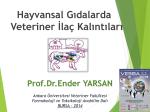 Sunu - Prof.Dr.Ender YARSAN.