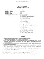 Mayıs 2014 - VPAA - Koç Üniversitesi