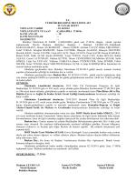 Ekim 2014 Meclis Tutanak Özetleri