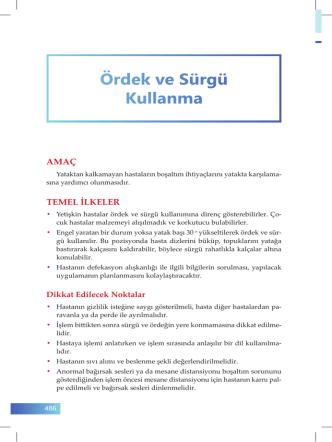 86. Ördek ve Sürgü Kullanma - İzmir Güney Kamu Hastaneleri Birliği