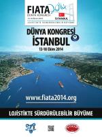 Kongre Broşürü - FIATA World Congress 2014 Istanbul