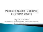 Doç. Dr. Fatih Öncü - Sağlık Çalışanlarının Sağlığı