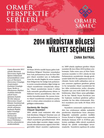 2014 Kürdistan Bölgesi Vilayet seçimleri