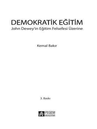 DEMOKRATİK EĞİTİM
