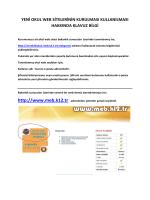 YENİ OKUL WEB SİTELERİNİN KURULMASI ve KULLANILMASI