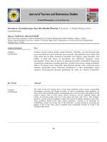 Cittaslow: A Model Proposal for Çamlıhemşin