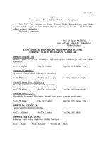 2014-2015 Güz Yarıyılı için Bitirme Tasarım Projesi Jüri Listesi
