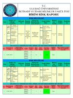 risk bilgileri - Uludağ Üniversitesi