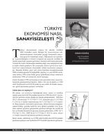 türkiye ekonomisi nasıl sanayisizleşti
