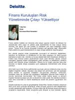 Finans Kuruluşları Risk Yönetiminde Çıtayı