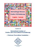 International Glossary Positive Psychotherapy English