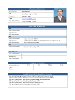 PERSONNEL INFORMATION Name Surname Nuri CANDAN Title