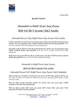 BASIN ÖZETİ Otomobil ve Hafif Ticari Araç Pazarı 2014 Yılı