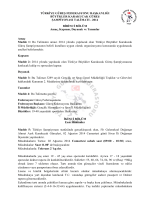 2014 BİRİNCİ BÖLÜM Amaç - Türkiye Güreş Federasyonu