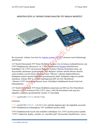 2.4 TFT LCD Touch shield