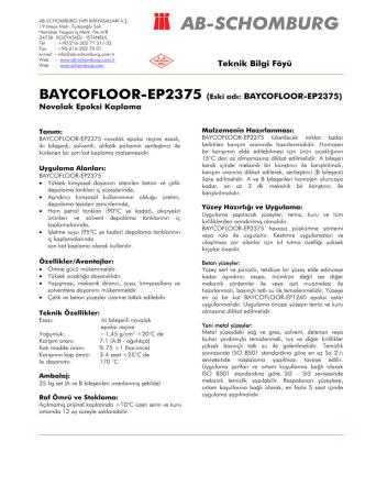 BAYCOFLOOR-EP2375 (Eski adı: BAYCOFLOOR - ab