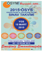 2015 ÖSYS Sınav Takvimi için tıklayınız