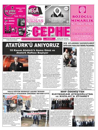 10.11.2014 Tarihli Cephe Gazetesi