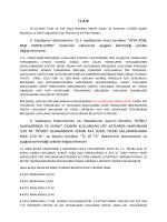 İ L A N II. Yapılaşma Hükümlerinin 11.5 maddesinin ikinci bendine