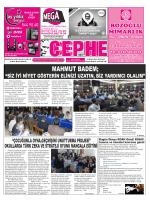 19.11.2014 Tarihli Cephe Gazetesi