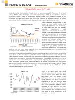 30 Haziran 2014 Haftalık Ekonomi Raporu