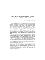Colin P. Mitchell, The Practice of Politics in Safavid Iran
