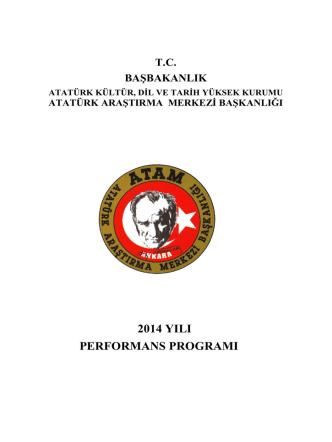 atam 2014 performans programı