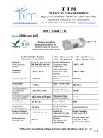 KELI UDA LOAD CELL (Yük Hücresi)