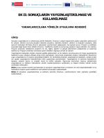 Erasmus+ Programı Sonuçların Yaygınlaştırılması ve