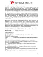Türkiye Bursları Yaz Programı 2014