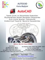 AutoCad Kursu Açılıyor... - Düzce Üniversitesi