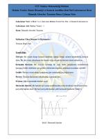 YTÜ Makine Mühendisliği Bölümü Makine Teorisi, Sistem Dinamiği