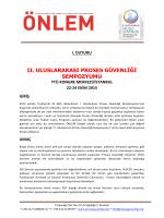 II_UPGS_I_Duyuru - Proses Güvenliği