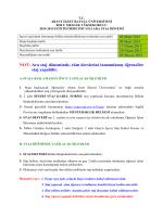 staj duyurusu - Bolu Meslek Yüksekokulu