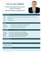 Prof. Dr. Ziya TAŞKAN - Yıldırım Beyazıt Üniversitesi