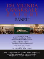 100. yılında çanakkale zaferi - Mimar Sinan Güzel Sanatlar