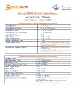 Güncel TMGD Eğitim Programlarımız