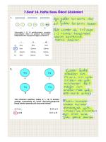7. Sınıf 14. Haftasonu Çalışma Ödevi Çözümleri