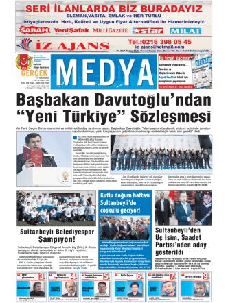 Başbakan Davutoğlu`ndan - gerçek medya gazetesi