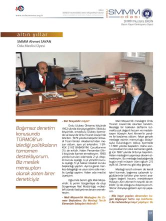 Ahmet Sayan - Ordu SMMM