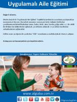 İşleyiş Dosyası - Algı ABA Terapi Merkezi
